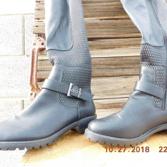 fbccb92d0 Shoedazzle Kainoa Thigh High Boots Lug Sole Vegan.  M_5bd89560de6f6297adab24af